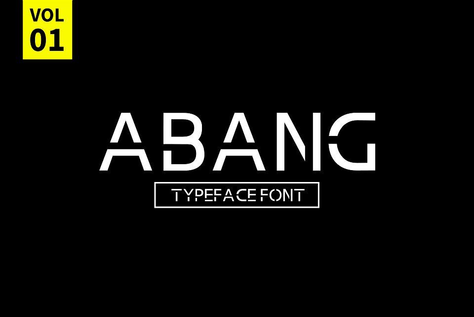 Abang Typeface