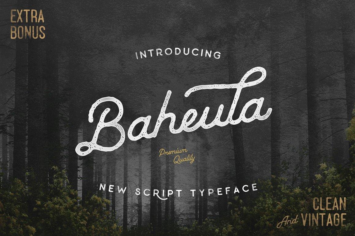 Baheula Vintage Typeface - Fontlot com