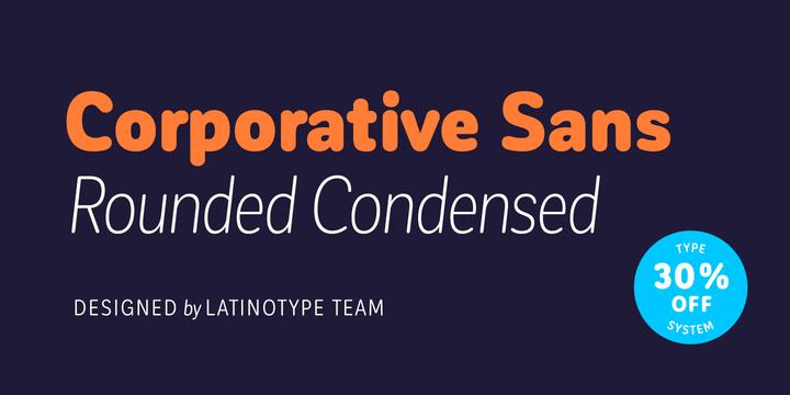 Corporative Sans Round Condensed