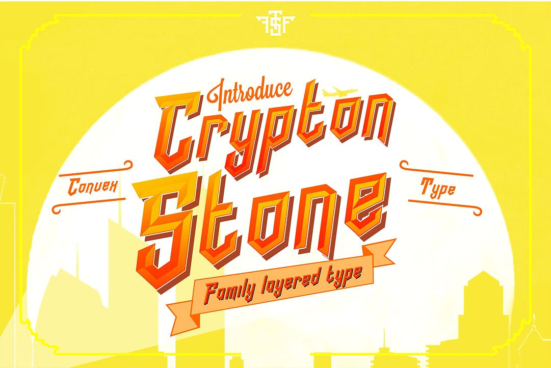Crypton Stone Typeface
