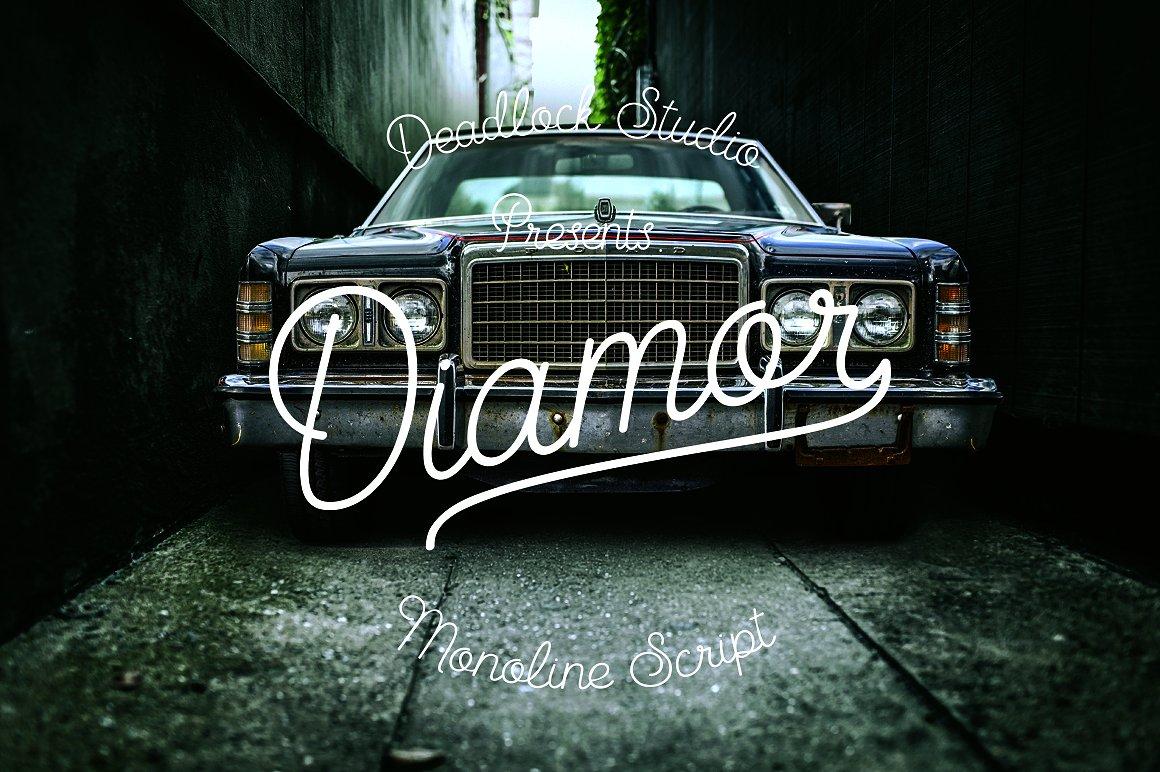 Diamor Script Font
