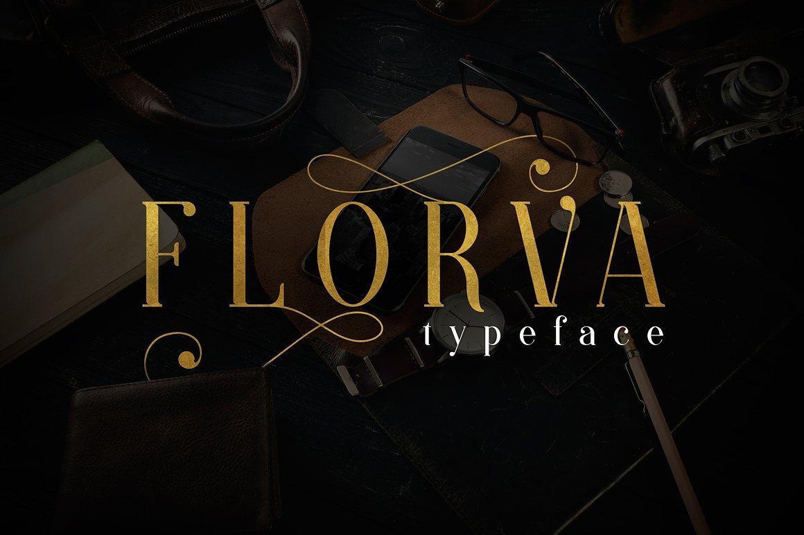 FLORVA TYPEFACE