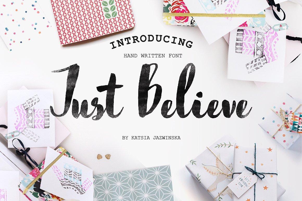 Just Believe Hand Written
