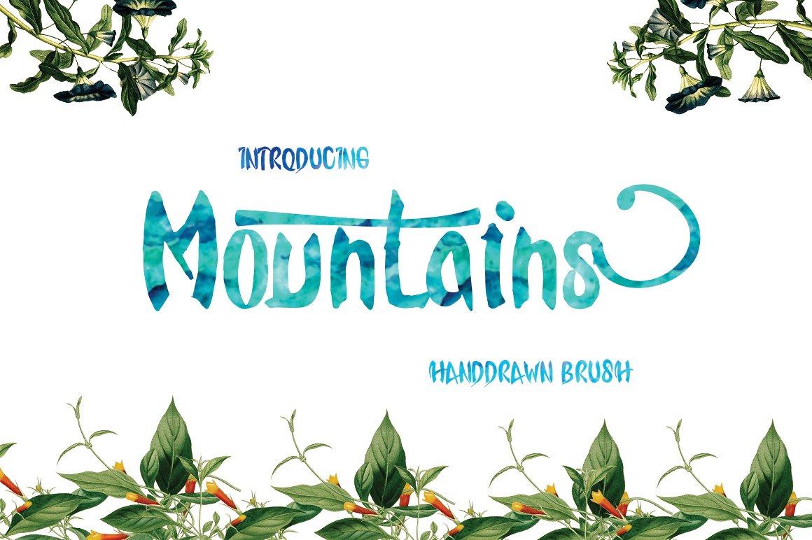 Mountains Handdrawn