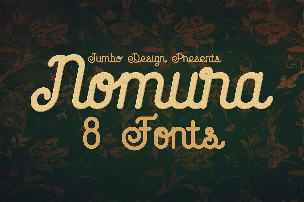 Nomura Script - Fontlot com