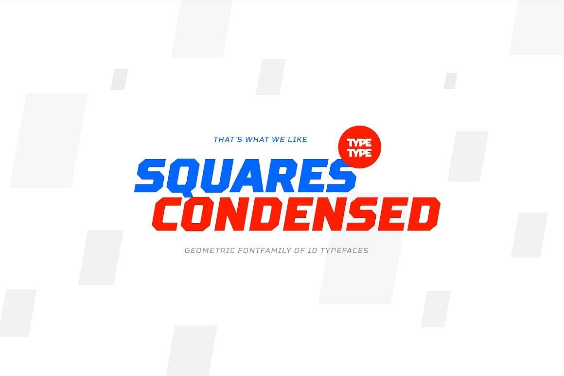 TT Squares Condensed Font