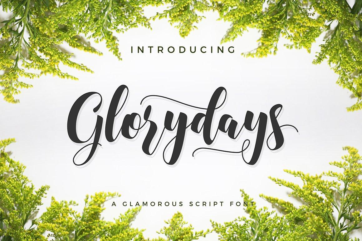 Glorydays Cursive