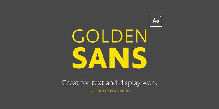 Golden Sans - Fontlot com