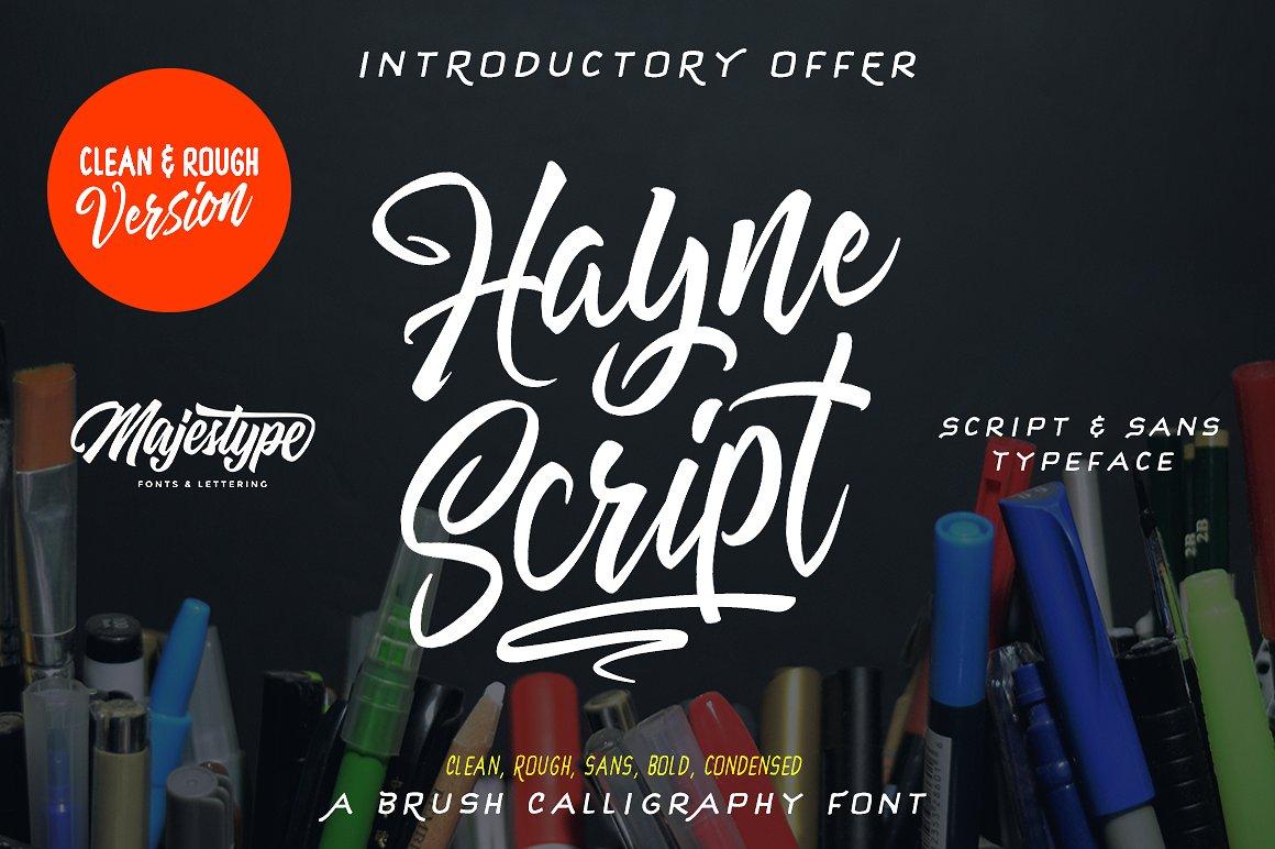 Hayne Script Clean & Rough