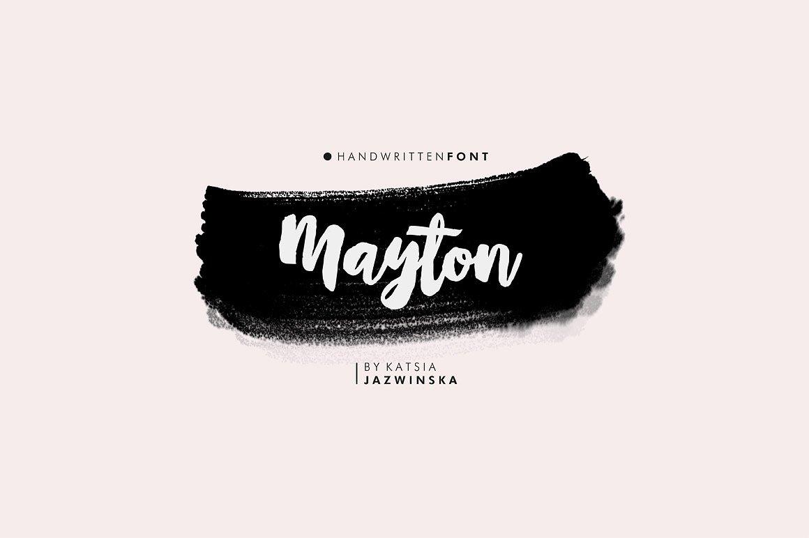 Mayton Brush Font