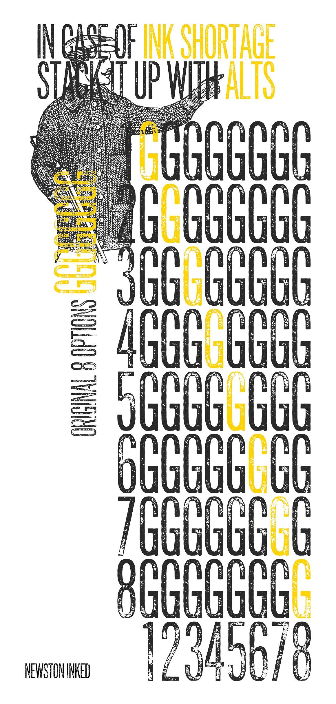 Newston Inked Typeface