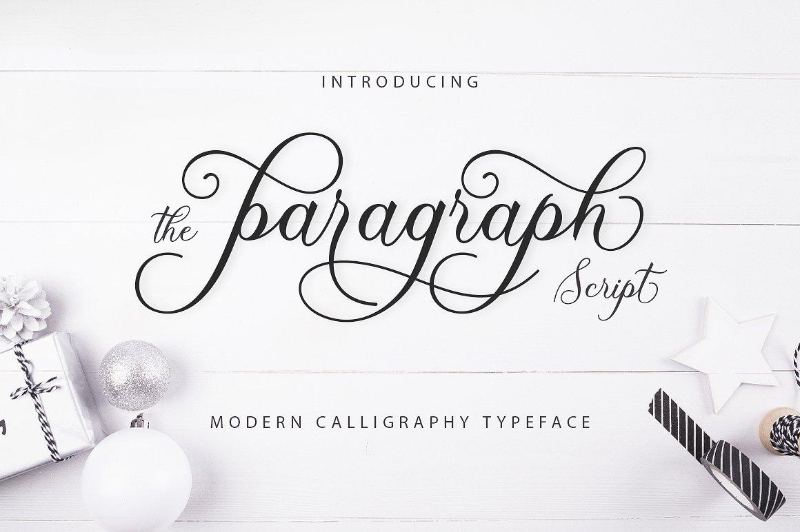 Paragraph Script Font