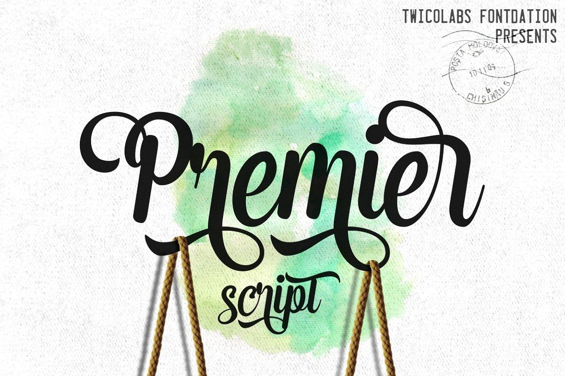 Premier Script - Fontlot com