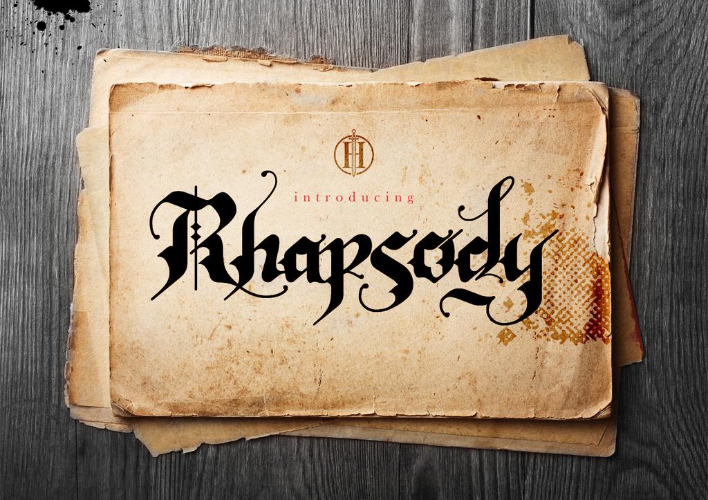 Rhapsody Black Letter