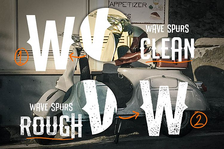 The Wave Spurs Typeface