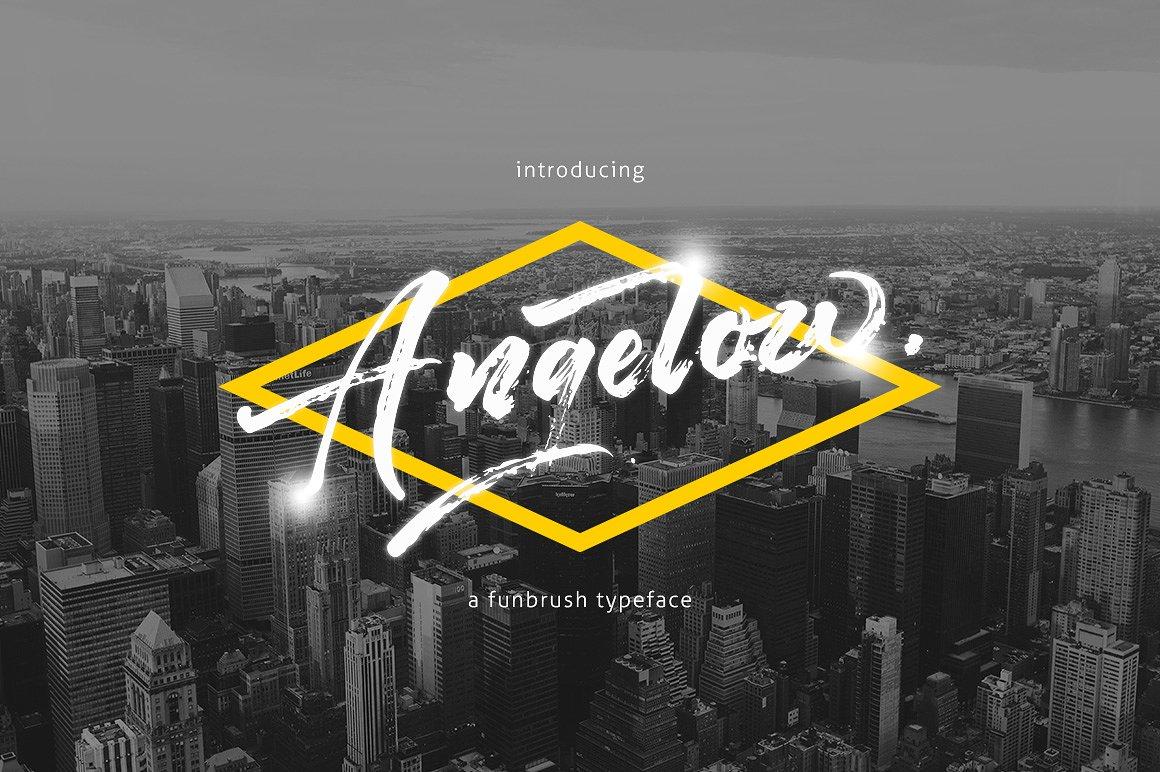 Angelow Brush Font