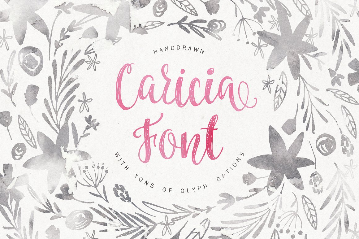 Caricia Handdrawn Font
