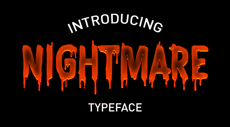 CF Nightmare Typeface