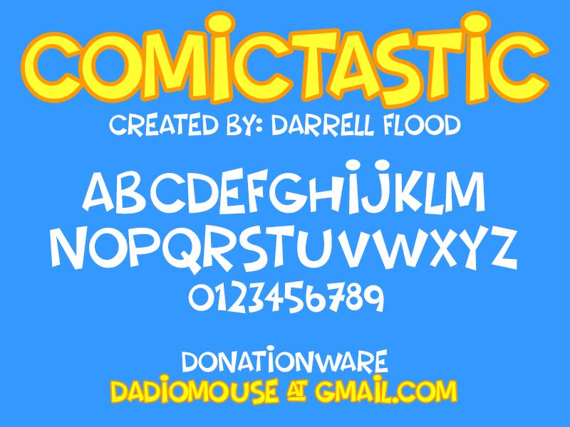 Comictastic Typeface