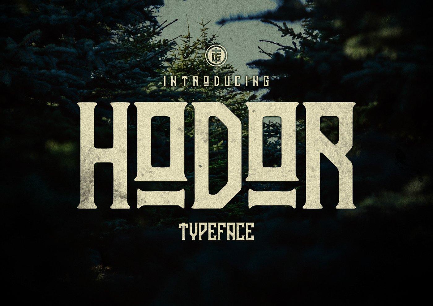 Hodor Typeface