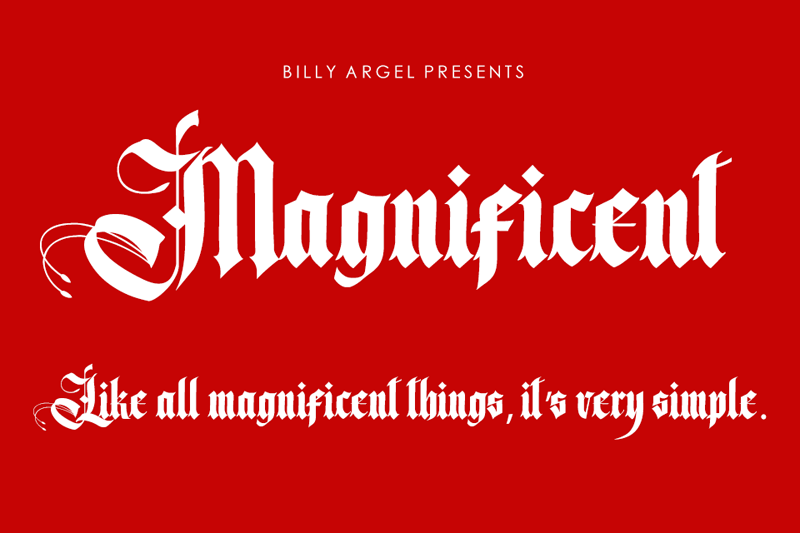 Magnificent Typeface
