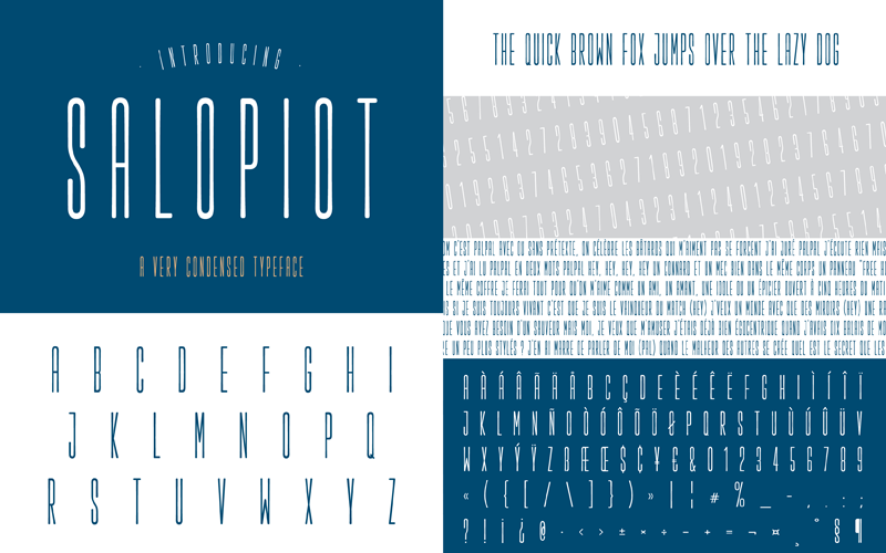 Salopiot Typeface