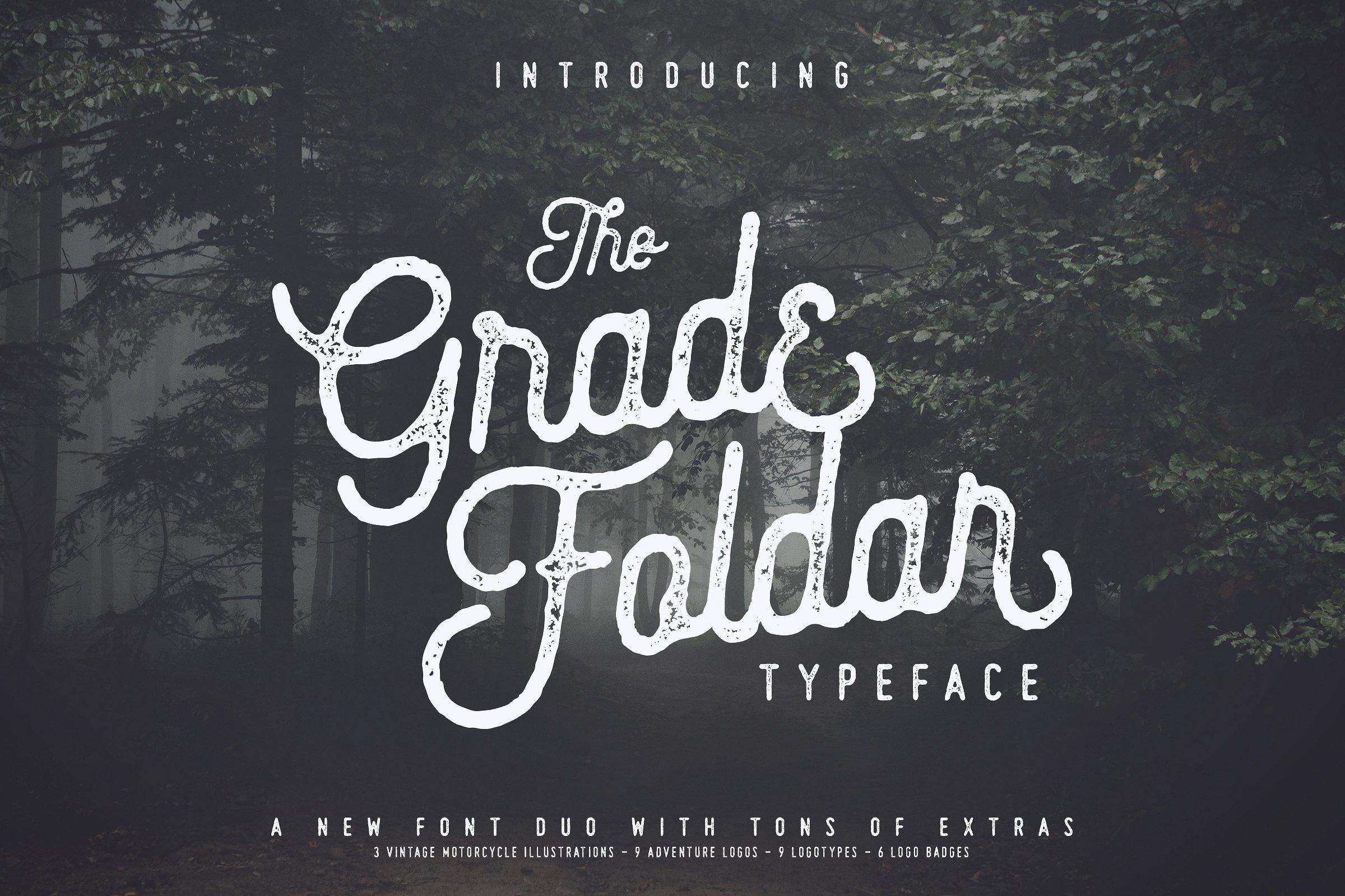 The Gradefoldar Typeface