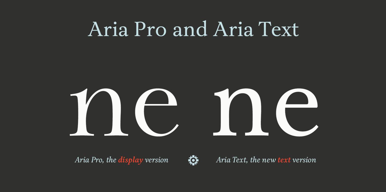 Aria Text - Fontlot com
