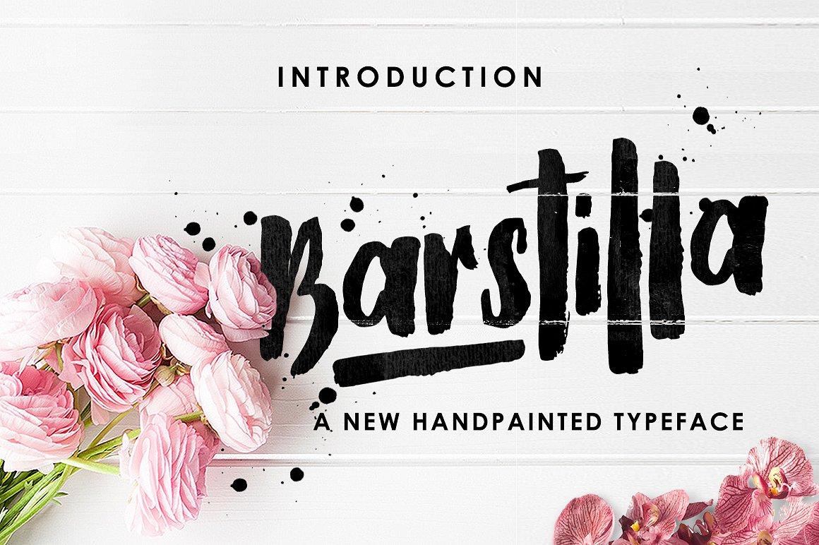 Barstilla Handpainted Typeface