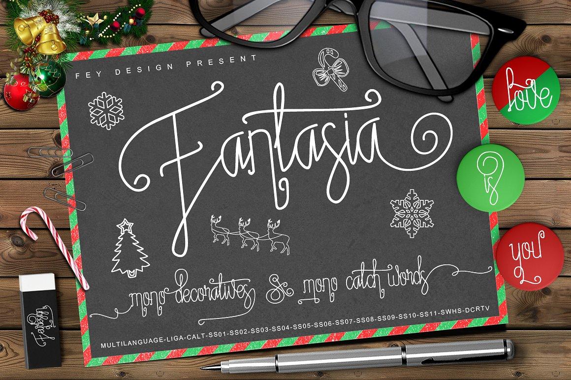 Fantasia Monoline Script