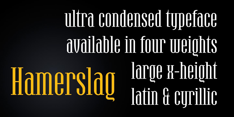 Hamerslag Typeface