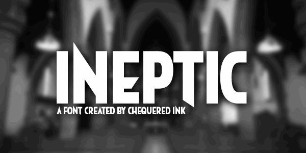 Ineptic Typeface
