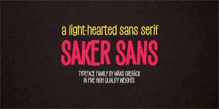 Saker Sans Black Font