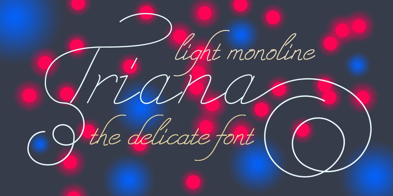 Triana Script Font