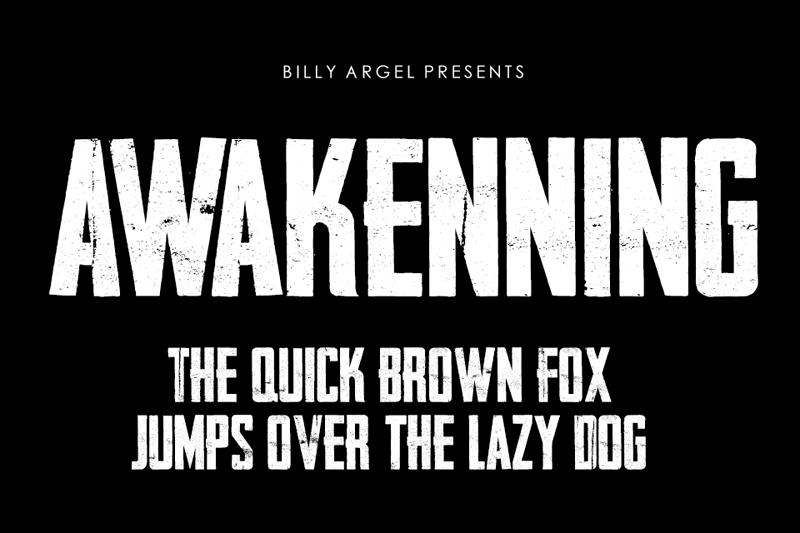Awakenning Typeface