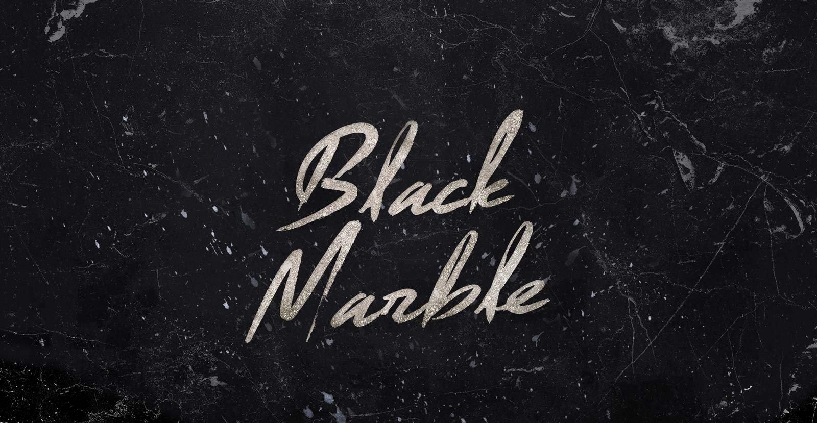 Black Marble Script
