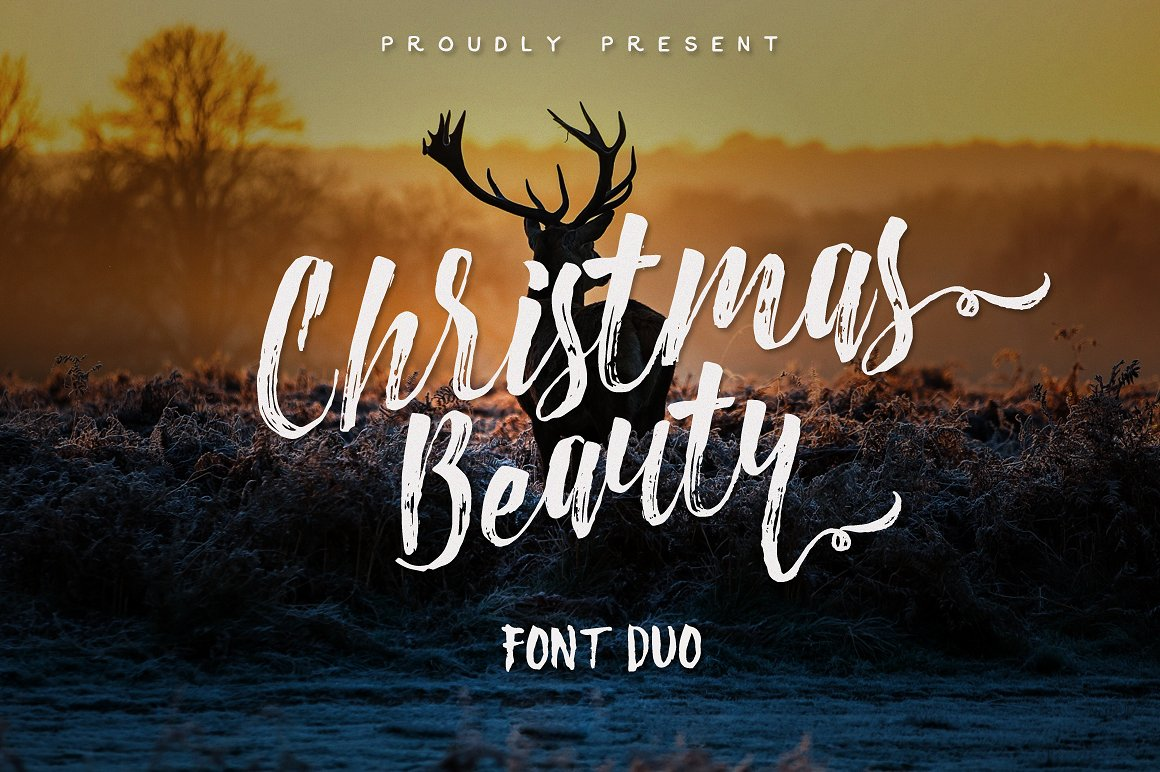 christmas beauty brush - Christmas Fonts Free