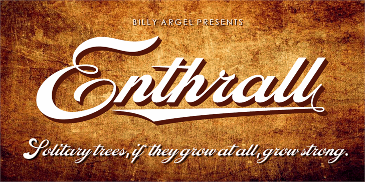 Enthrall Bold Personal Use,Enthrall Bold, Personal Use font,Enthrall Bold Personal Use, font Typeface