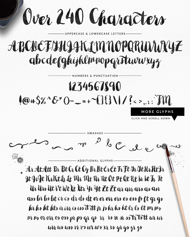 Minty Brush Font