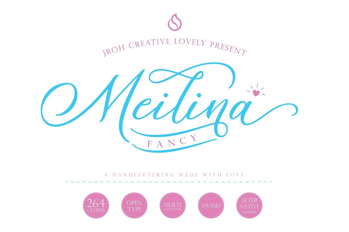 Meilina Fancy Script Font