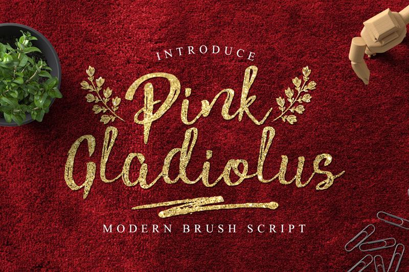 Pink Gladiolus Brush