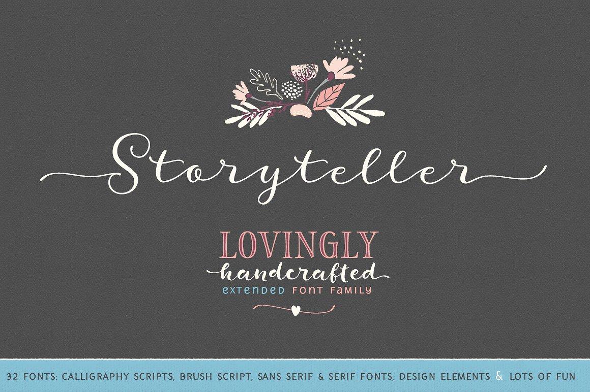 Storyteller font fontlot