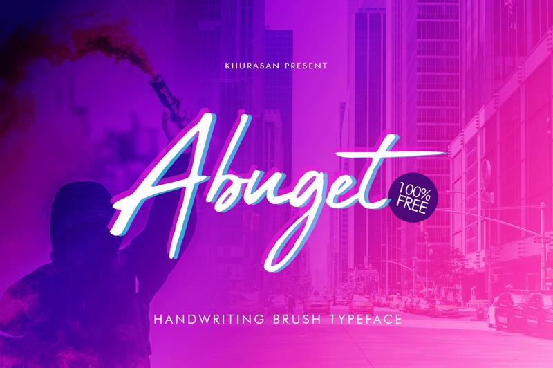 Abuget Brush Typeface