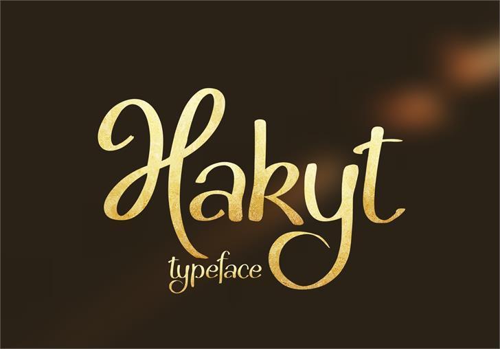 Hakyt Typeface