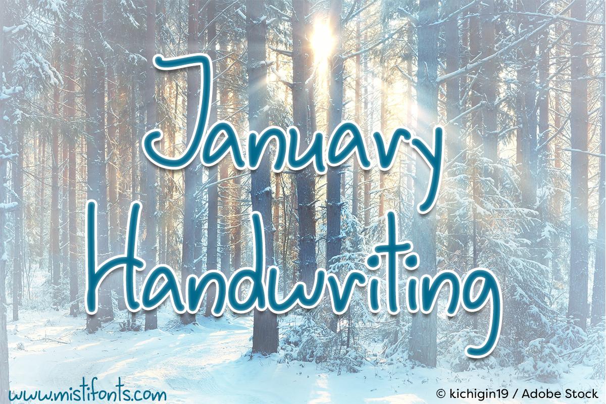 January Handwriting