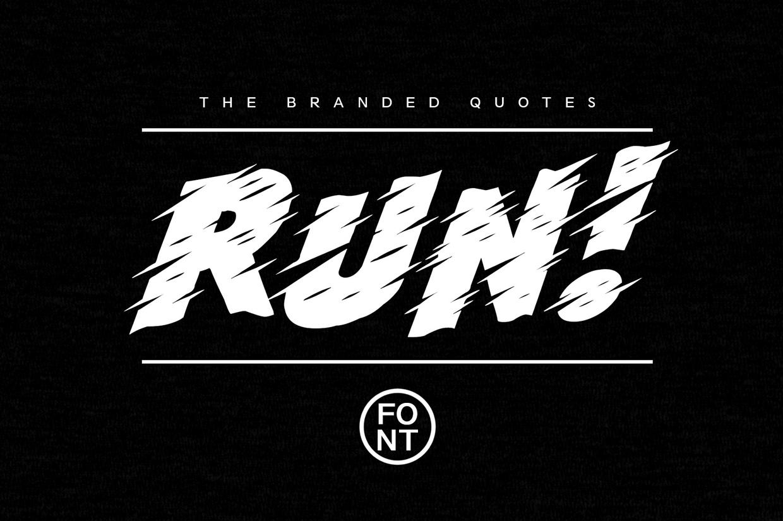 Run! Typeface