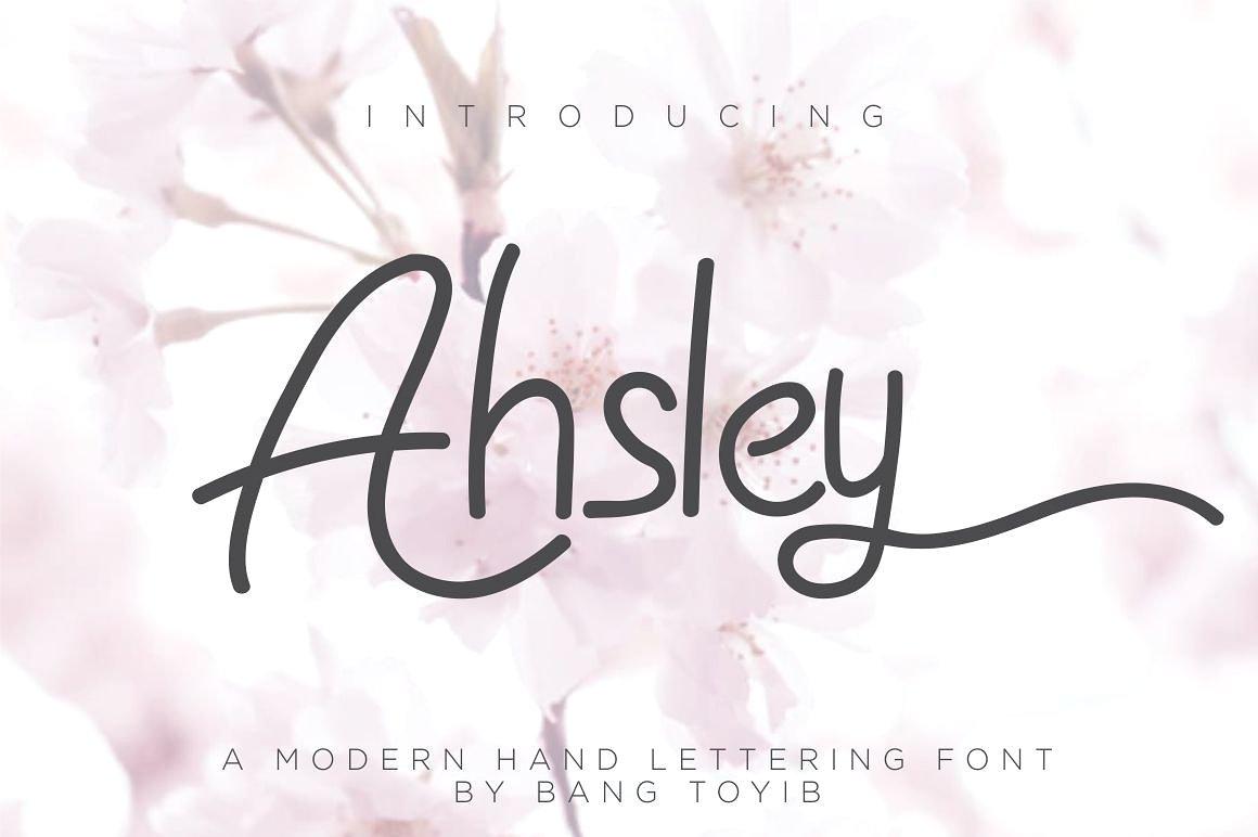Ahsley Script