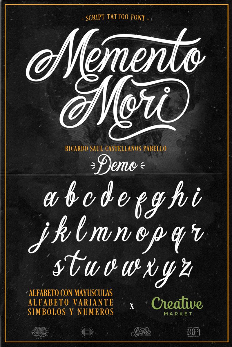Memento Mori Font