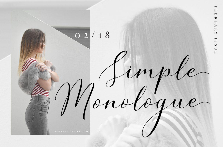 Simple Monologue