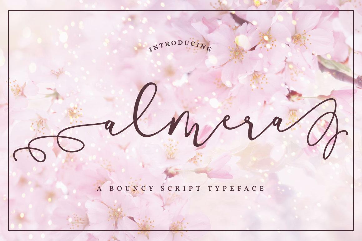 Almera Script Font Fontlot
